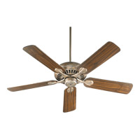 Quorum International Pinnacle Ceiling Fan in Mystic Silver 91525-58
