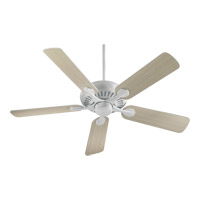 Pinnacle 52 inch White with Washed Oak Blades Ceiling Fan