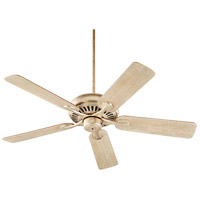 Quorum 91525-60 Pinnacle 52 inch Aged Silver Leaf with Reversible Walnut and Weathered Oak Blades Indoor Ceiling Fan