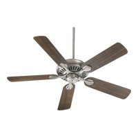 Quorum 91525-92 Pinnacle 52 inch Antique Silver with Rosewood Blades Ceiling Fan