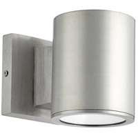 Quorum 920-16 Cylinder LED 5 inch Brushed Aluminum Outdoor Wall Mount