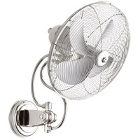 Piazza 22 inch Polished Nickel Outdoor Wall Fan