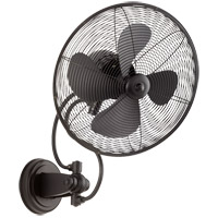 Quorum 94144-69 Piazza 22 inch Noir Outdoor Wall Fan