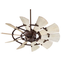 Quorum 94410-86 Windmill 44 inch Oiled Bronze with Weathered Oak Blades Indoor Ceiling Fan