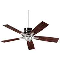 Mercer 52 inch Polished Nickel with Dark Teak Blades Indoor Ceiling Fan