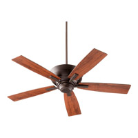 Quorum 94525-86 Mercer 52 inch Oiled Bronze with Vintage Walnut Blades Ceiling Fan