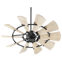 Quorum 95210-69 Windmill 52 inch Noir with Weathered Oak Blades Ceiling Fan