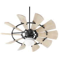Quorum 195210-69 Windmill 52 inch Noir with Weathered Oak Blades Patio Fan alternative photo thumbnail