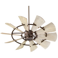 Quorum 95210-86 Windmill 52 inch Oiled Bronze with Weathered Oak Blades Indoor Ceiling Fan