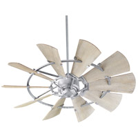 Quorum 95210-9 Windmill 52 inch Galvanized with Weathered Oak Blades Indoor Ceiling Fan