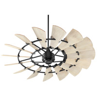Quorum 96015-69 Windmill 60 inch Noir with Weathered Oak Blades Ceiling Fan photo thumbnail