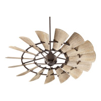 Quorum 96015-86 Windmill 60 inch Oiled Bronze with Weathered Oak Blades Indoor Ceiling Fan