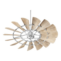 Quorum 96015-9 Windmill 60 inch Galvanized with Weathered Oak Blades Indoor Ceiling Fan