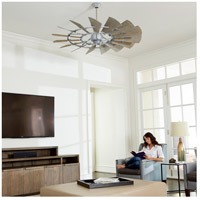 Quorum 96015-9 Windmill 60 inch Galvanized with Weathered Oak Blades Indoor Ceiling Fan alternative photo thumbnail