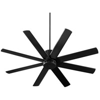 Quorum 96608-69 Proxima 60 inch Noir with Matte Black Blades Ceiling Fan