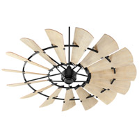 Quorum 97215-69 Windmill 72 inch Noir with Weathered Oak Blades Ceiling Fan