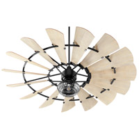 Quorum 97215-69 Windmill 72 inch Noir with Weathered Oak Blades Ceiling Fan alternative photo thumbnail