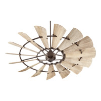 Quorum 97215-86 Windmill 72 inch Oiled Bronze with Weathered Oak Blades Indoor Ceiling Fan