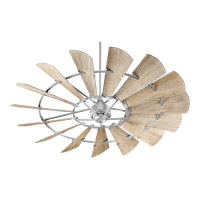 Windmill 72 inch Galvanized with Weathered Oak Blades Indoor Ceiling Fan