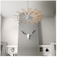 Quorum 97215-9 Windmill 72 inch Galvanized with Weathered Oak Blades Indoor Ceiling Fan  alternative photo thumbnail