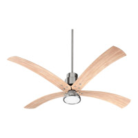 Flex 60 inch Satin Nickel with Weathered Pine Blades Ceiling Fan