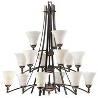 Quorum IBS-157 Aspen 15 Light 41 inch Oiled Bronze Chandelier Ceiling Light