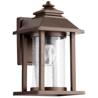 Quorum IBS-246 Crusoe 1 Light 12 inch Oiled Bronze Outdoor Wall Lantern