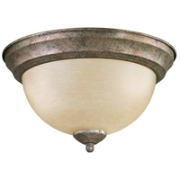 Quorum IBS-250 Fort Worth 2 Light 11 inch Mystic Silver Flush Mount Ceiling Light
