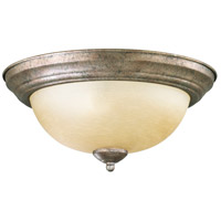 Quorum IBS-251 Fort Worth 2 Light 14 inch Mystic Silver Flush Mount Ceiling Light