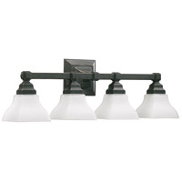 Quorum IBS-259 Craftsman Collection 4 Light 30 inch Old World Vanity Light Wall Light