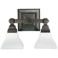 Quorum IBS-262 Craftsman Collection 2 Light 15 inch Old World Vanity Light Wall Light