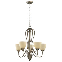 Quorum IBS-265 Powell 5 Light 25 inch Mystic Silver Chandelier Ceiling Light