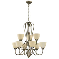 Quorum IBS-266 Powell 9 Light 29 inch Mystic Silver Chandelier Ceiling Light