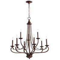 Quorum IBS-276 Lariat 9 Light 30 inch Oiled Bronze Chandelier Ceiling Light