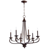 Quorum IBS-277 Lariat 6 Light 27 inch Oiled Bronze Chandelier Ceiling Light