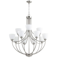 Quorum IBS-308 Enclave 12 Light 35 inch Satin Nickel Chandelier Ceiling Light