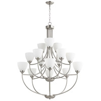 Quorum IBS-309 Enclave 15 Light 39 inch Satin Nickel Chandelier Ceiling Light