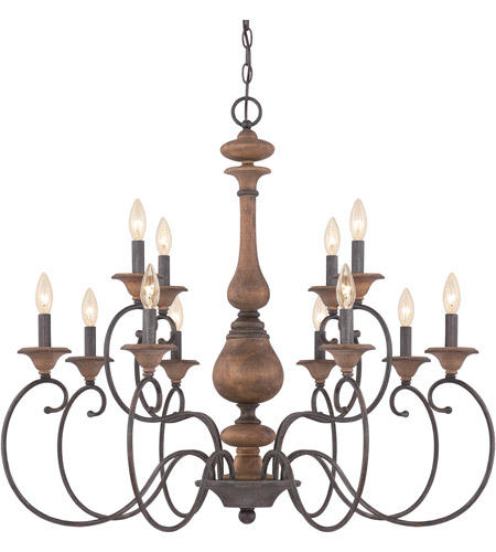 Rustic Foyer Chandelier : Auburn light inch rustic black foyer chandelier