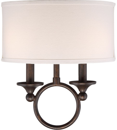 Quoizel Ada8702ln Adams 2 Light 12 Inch Leathered Bronze Wall Sconce