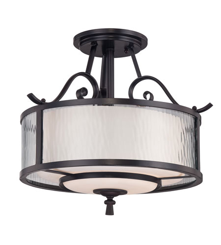 Quoizel Lighting Adonis 3 Light Semi-Flush Mount in Dark Cherry ADS1715DC photo