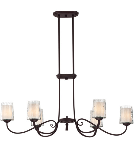 Quoizel Lighting Adonis 6 Light Island Light in Dark Cherry ADS639DC photo