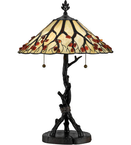 Quoizel AG711TVA Agate Portable 25 inch 75 watt Valiant Bronze Table Lamp Portable Light photo