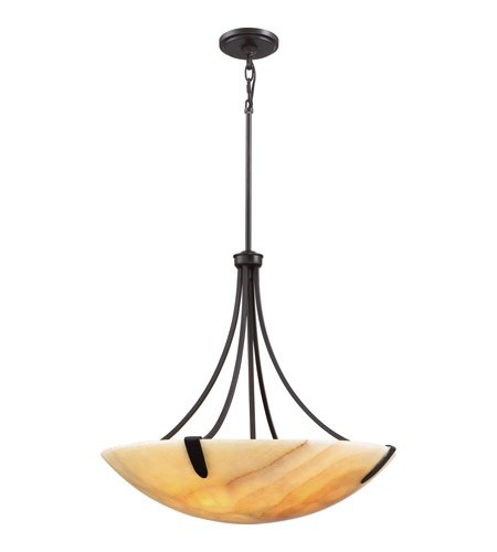 Quoizel AI2824IB Arcadia 5 Light 24 inch Imperial Bronze Pendant Ceiling Light, Naturals  photo