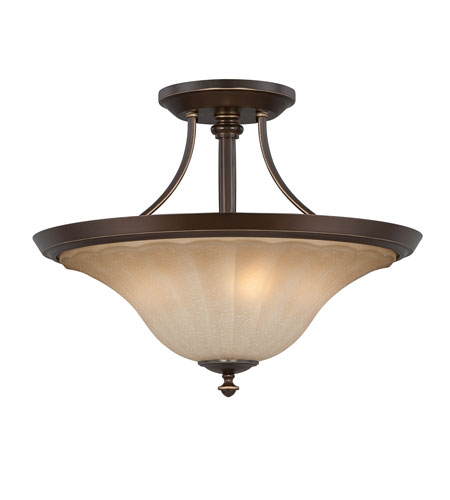 Quoizel Lighting Aliza 3 Light Semi-Flush Mount in Palladian Bronze ALZ1718PN photo