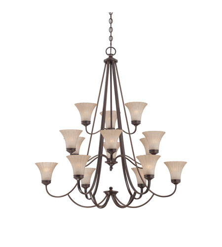 Quoizel Lighting Aliza 15 Light Chandelier in Palladian Bronze ALZ5015PN photo