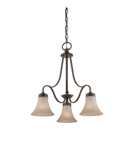 Quoizel Lighting Aliza 3 Light Chandelier in Palladian Bronze ALZ5103PN photo