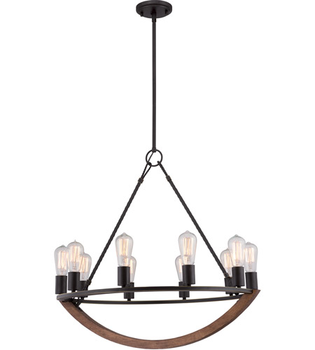 Quoizel ANR5010IB Anchor 10 Light 28 inch Imperial Bronze Chandelier Ceiling Light photo
