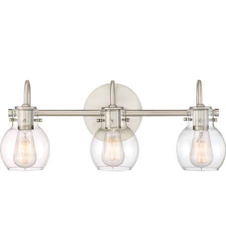Quoizel ANW8603AN Andrews 3 Light 22 inch Antique Nickel Bath Light Wall Light  photo