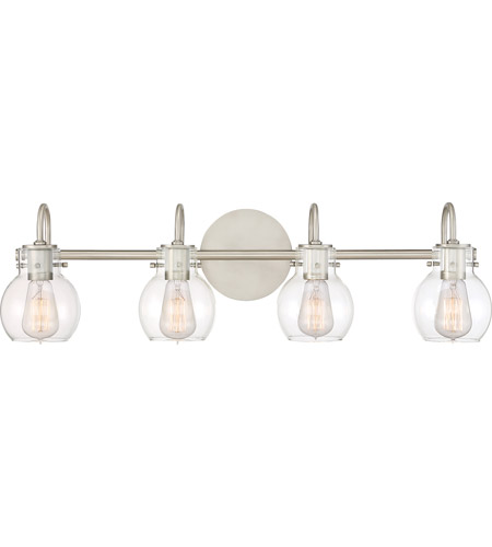 Quoizel ANW8604AN Andrews 4 Light 31 inch Antique Nickel Bath Light Wall Light photo