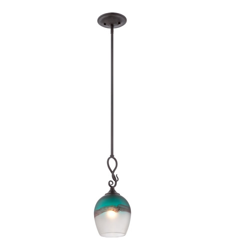Quoizel ar1903ib salamander art glass 1 light 7 inch imperial quoizel ar1903ib salamander art glass 1 light 7 inch imperial bronze mini pendant ceiling light mozeypictures Images